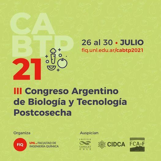 III Congreso Argentino de Biología y Tecnología Postcosecha
