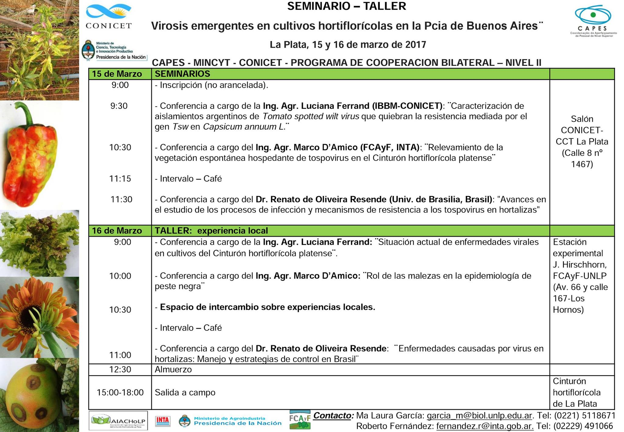 Seminario-Taller Virosis emergentes en cultivos hortiflorícolas en la Pcia. de Buenos Aires