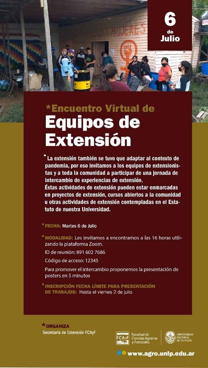 Encuentro Virtual de Equipos de Extensión Facultad de Ciencias Agrarias y Forestales