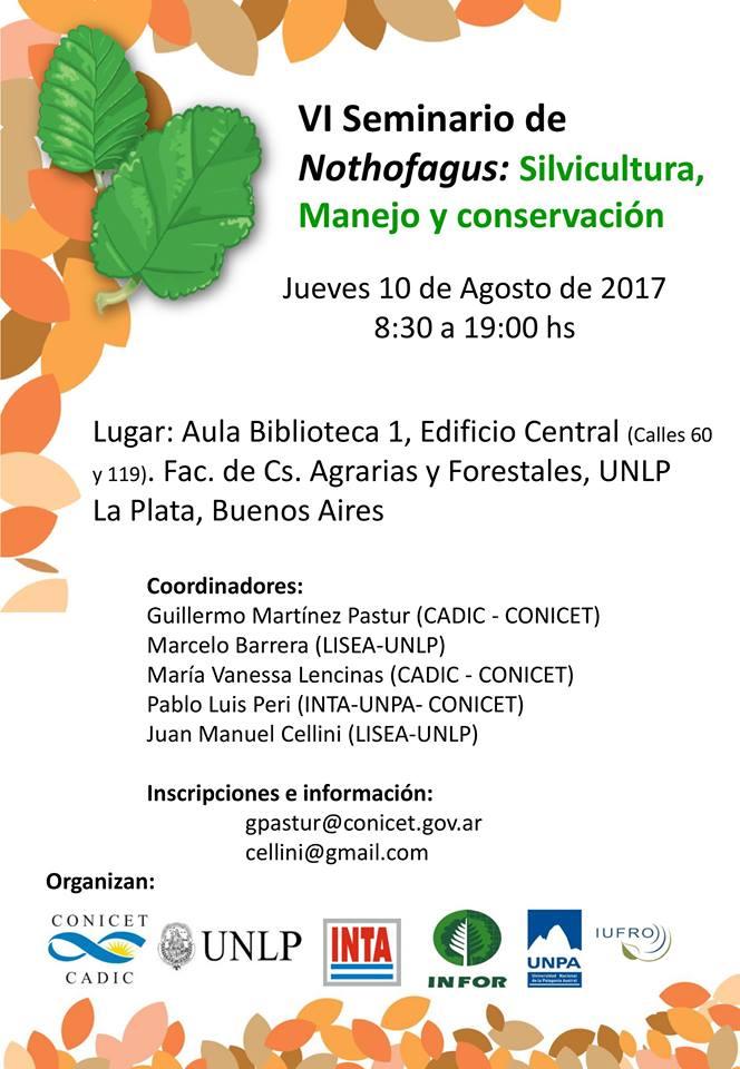 VI Seminario de Nothofagus : Silvicultura, manejo y conservación