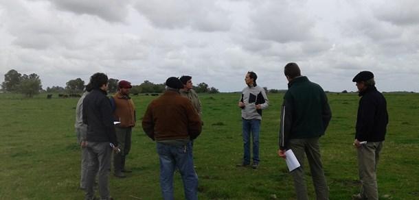 Recorrida con productores de Ranchos en el establecimiento El Amanecer- UNLP