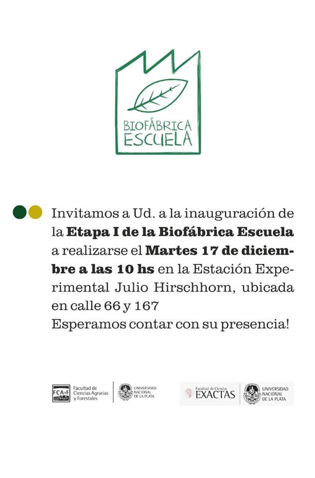 Inauguración Etapa I Biofábrica de la Facultad
