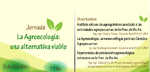 Jornada: La Agroecología: Una alternativa viable