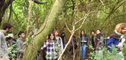 Estudiantes en la Isla Martín García