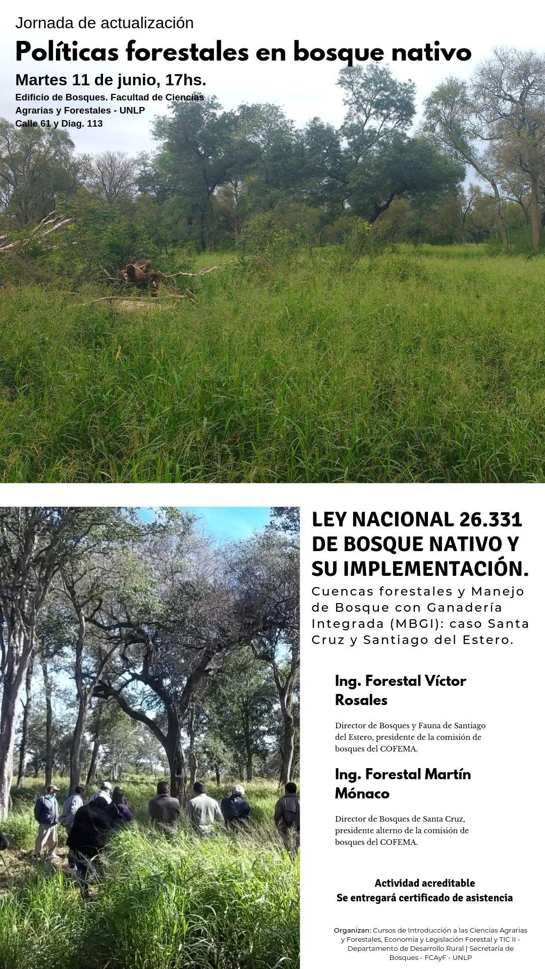 Charlas sobre Políticas Forestales en bosques nativos