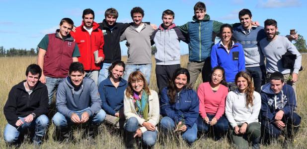 Viaje con estudiantes del  Seminario de Ecofisiología de pastizales.