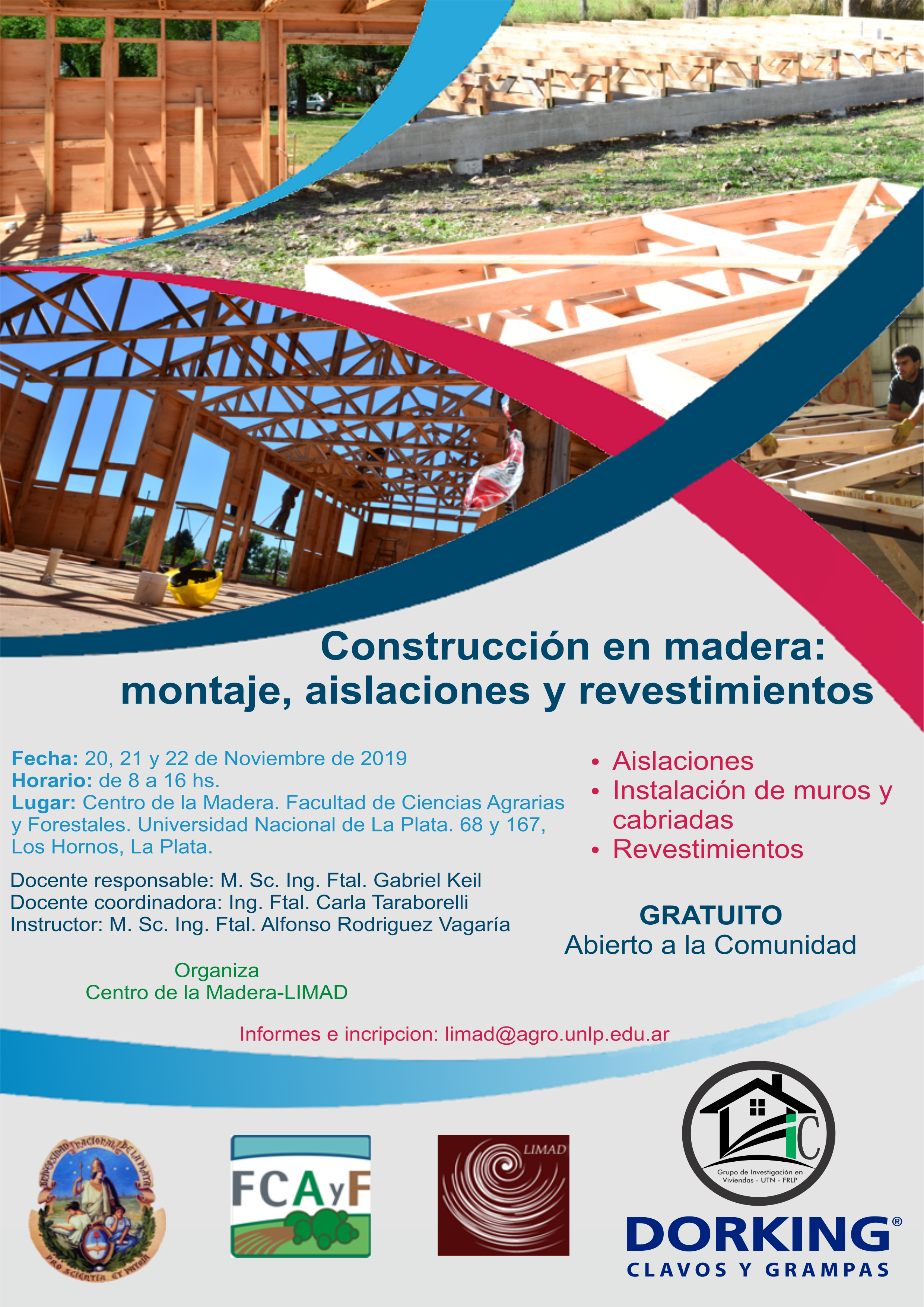 Curso de Construcción en madera: montaje, aislaciones y revestimientos