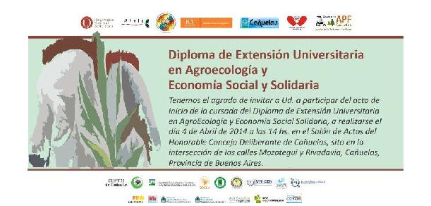 Comenzó la Diplomatura de Extensión Universitaria en AgroEcología y Economía Social Solidaria