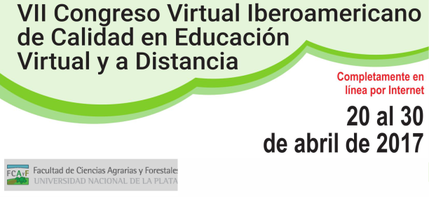 VII Congreso Virtual Iberoamericano de Calidad en Educación Virtual y a Distancia