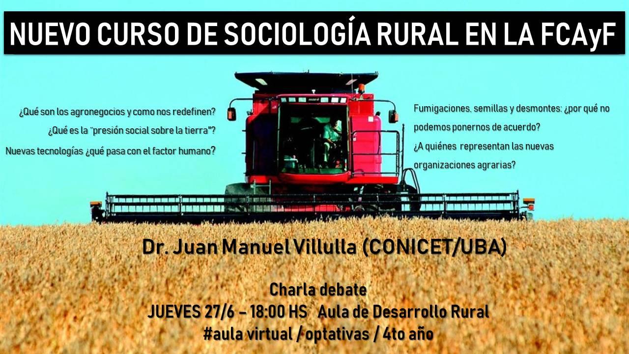 Charla Debate en el marco del Curso de Sociología Rural