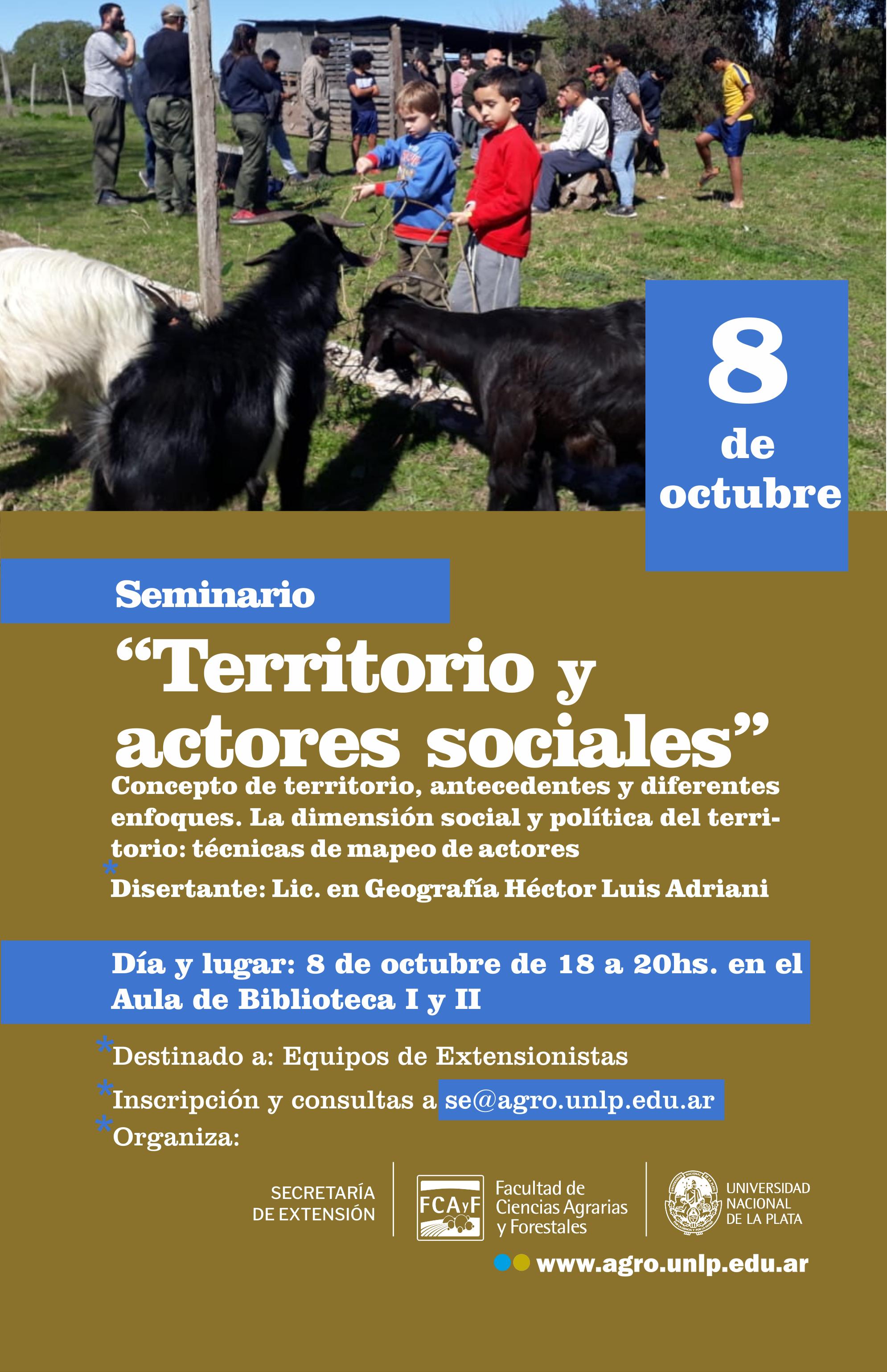 Seminario: Territorio y Actores Sociales