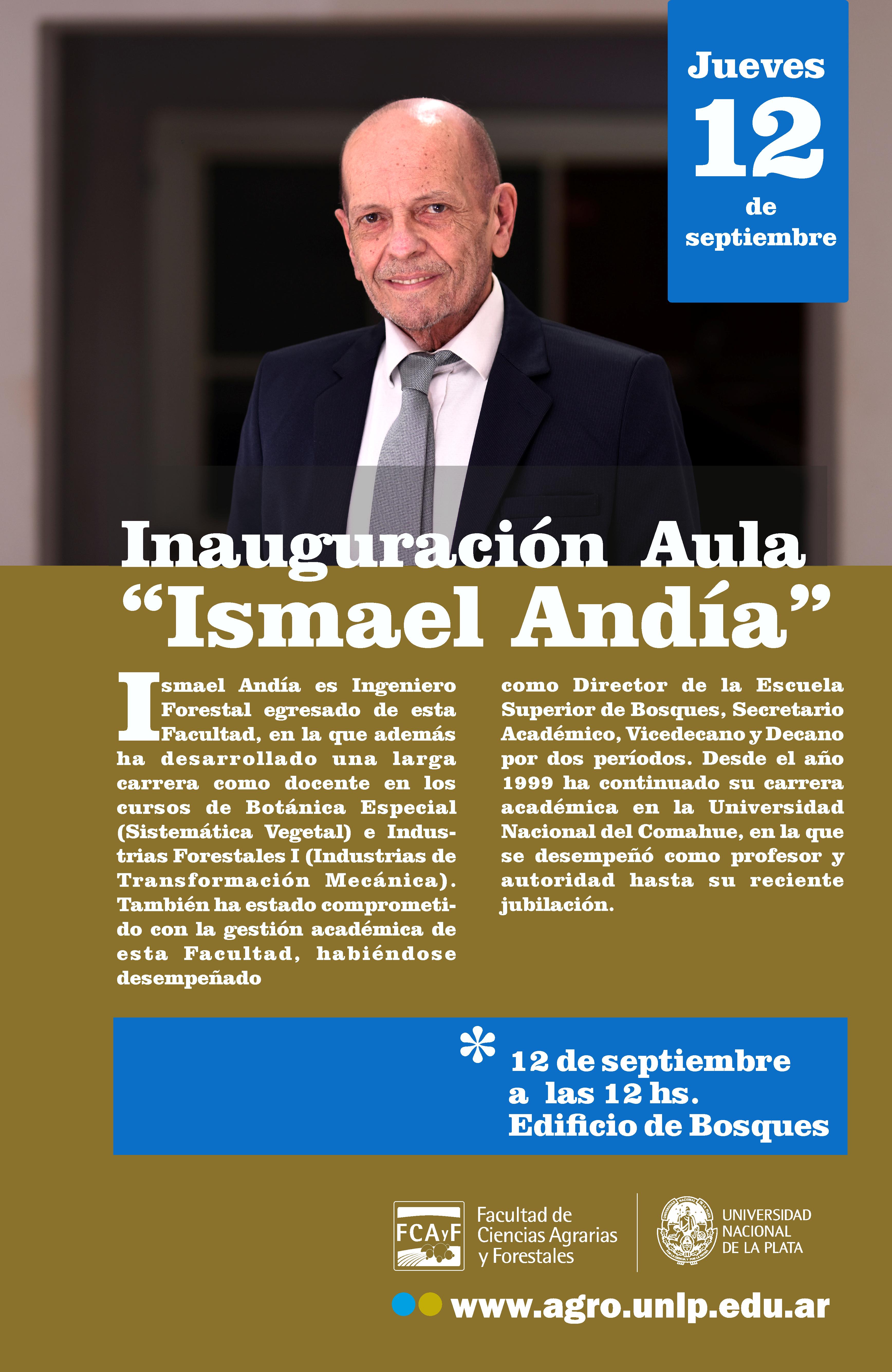Inauguración del Aula Ismael Andía
