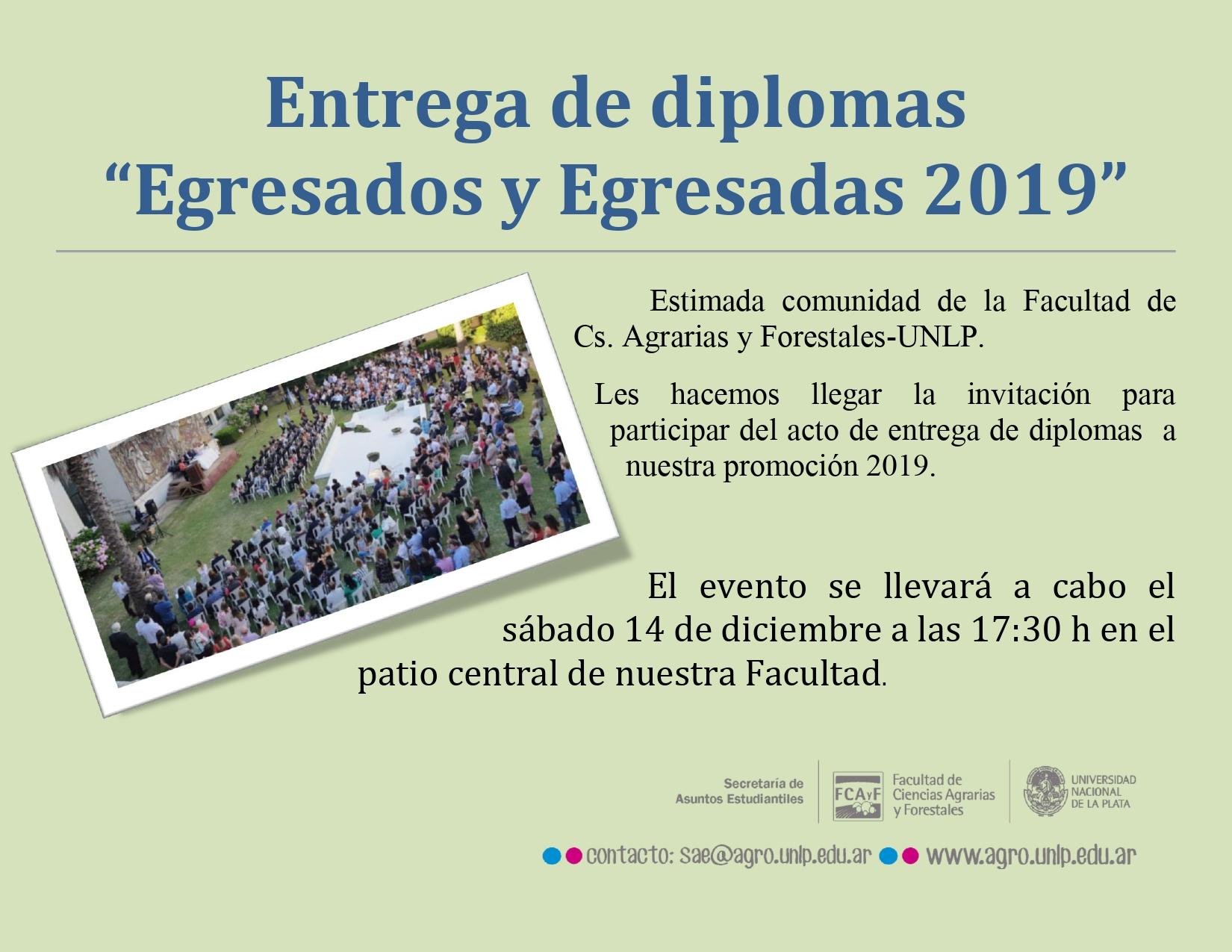 Entrega de Diplomas Egresadas y Egresados 2019