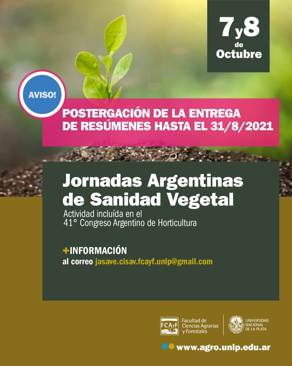 Jornadas Argentinas de Sanidad Vegetal