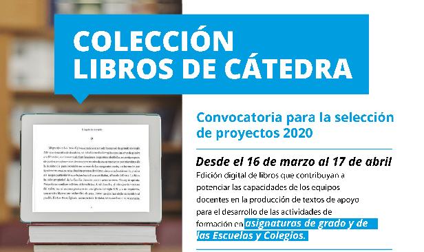 Prorroga en la presentación para la Colección libros de cátedra