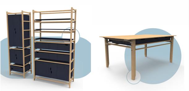 LIMAD: trabajo conjunto en diseños de muebles de sauce para viviendas sociales realizados por estudiantes de Diseño Industrial