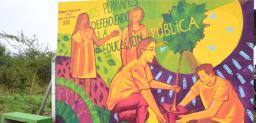 Mural colectivo en la Unidad de Vivero Forestal
