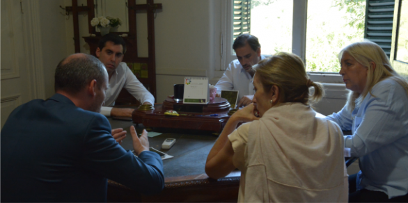 Reunión con el Secretario de Espacios Públicos de la Municipalidad de La Plata
