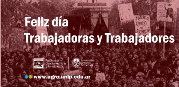 Feliz día a todos los trabajadores y trabajadoras que hacen posible el día a día de nuestra Institución