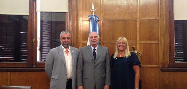 Autoridades de la Facultad se reunieron con el Ministro Casamiquela