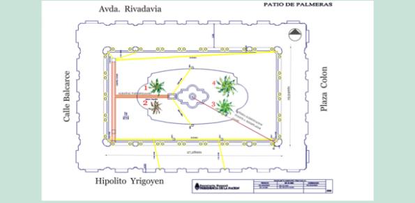 """""""Patio de las Palmeras"""" de la Casa Rosada"""