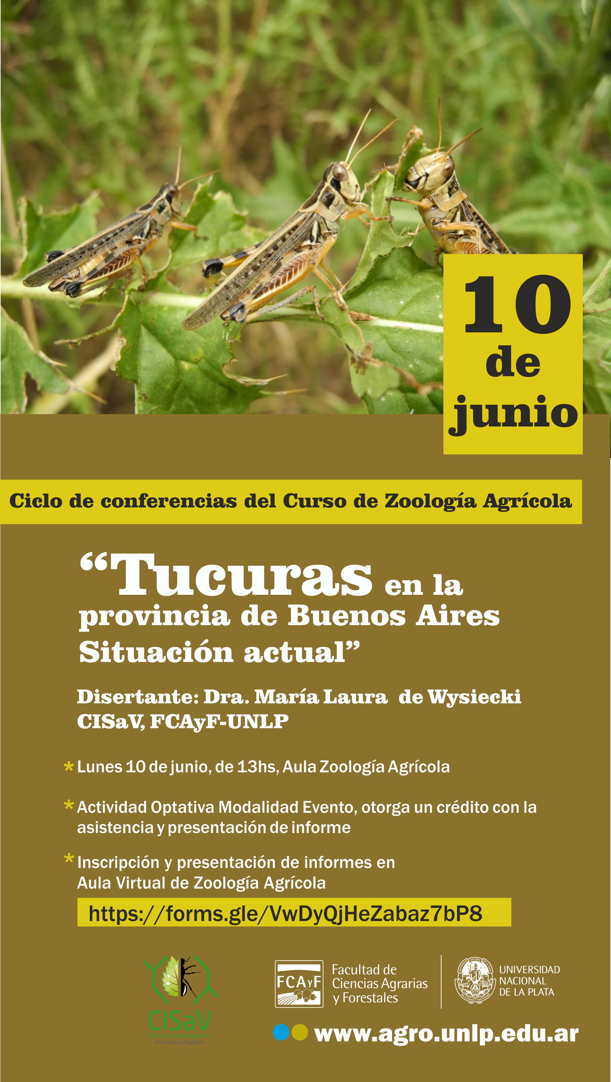 Charla: Tucuras en la provincia de Buenos Aires. Situación Actual.