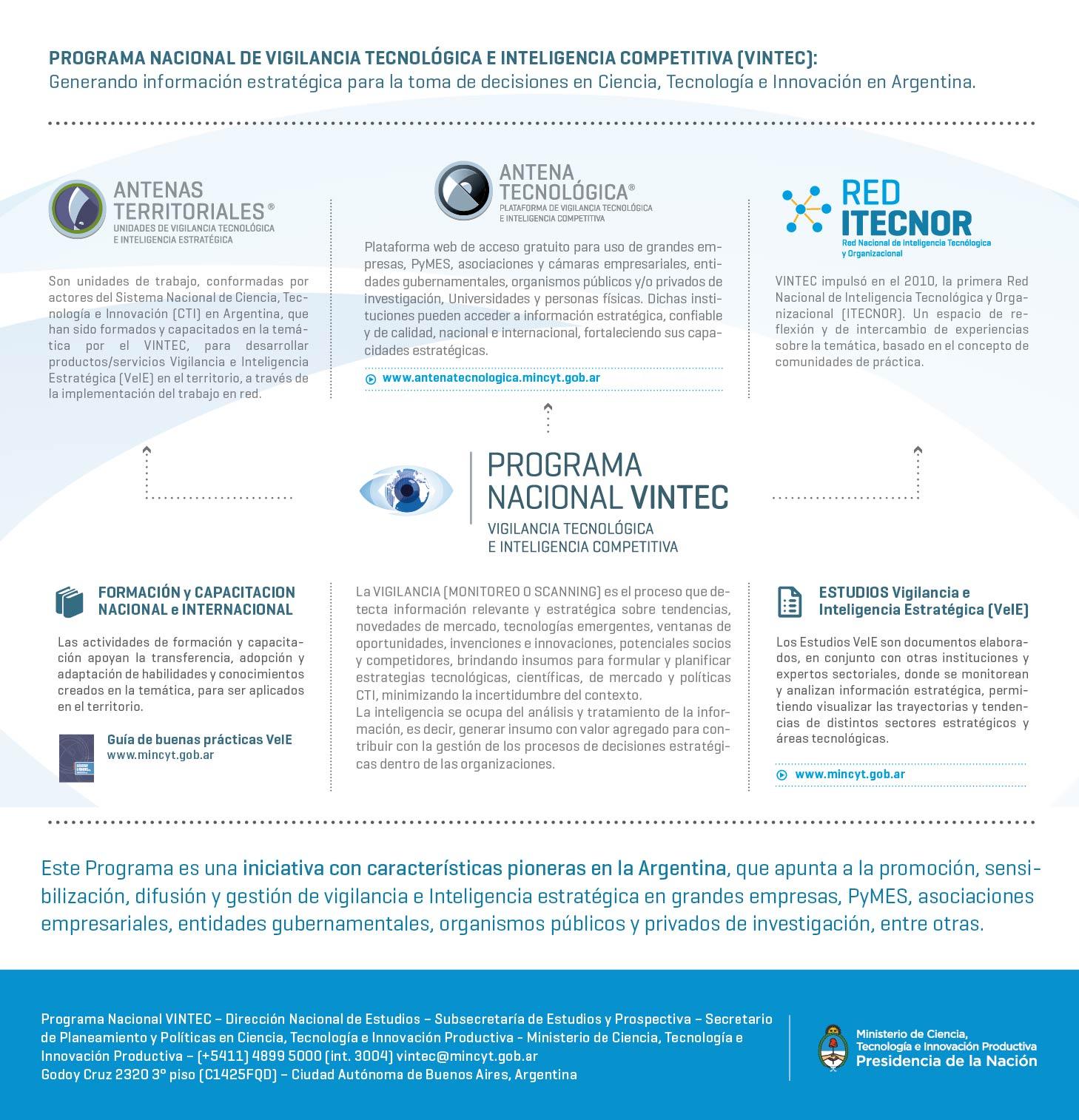 Curso de Formación y capacitación sobre Vigilancia Tecnológica e Inteligencia Estratégica en el campo de la investigación y desarrollo de proyectos