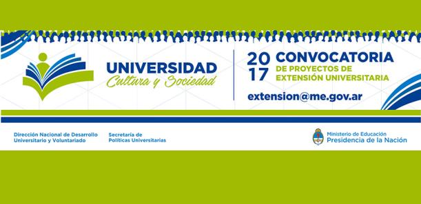"""Proyectos Extensión Universitaria """"Universidad, Cultura y Sociedad"""" 2017"""