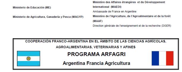 Seleccionados al Programa de Movilidades académicas estudiantiles a Francia - Programa ARFAGRI (Argentina - Francia - Agricultura)