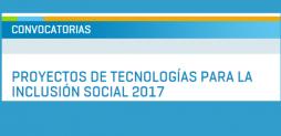 Proyectos de Tecnologías para la Inclusión Social 2017- PROCODAS