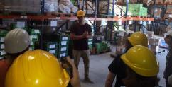 Visita al banco alimentario de la ciudad de La Plata