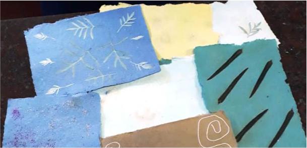 Elaboración de papel artesanal